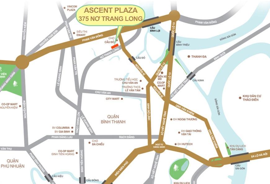 vi tri du an ascent plaza